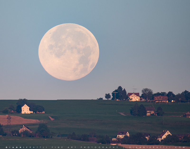 Countryside Moonset